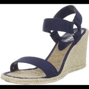 Ralph Lauren Blue Wedge Sandals